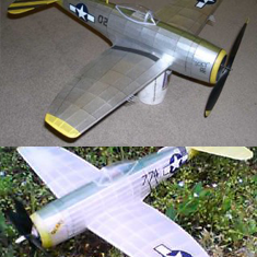 KIT #40 THE REPUBLIC P-47 THUNDERBOLT WW2 U.S. AIR FORCE FIGHTER. BUILD ANY ONE OF 3 DIFFERENT VERSIONS FROM THE KIT