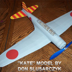 KIT # 35-LC. NAKAJIMA B5N2 KATE. WW2 JAPANESE NAVY ATTACK/TORPEDO BOMBER