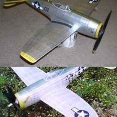 KIT #40-LC THE REPUBLIC P-47 THUNDERBOLT WW2 U.S. AIR FORCE FIGHTER. BUILD ANY ONE OF 3 DIFFERENT VERSIONS FROM THE KIT